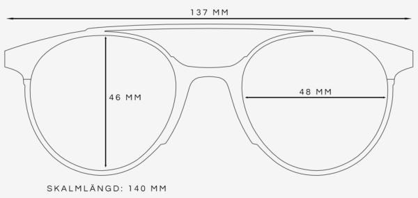 Pilotglasögon storleksguide